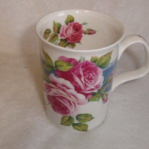 Roy Kirkham Dawn Roses coffee cup mug bone china